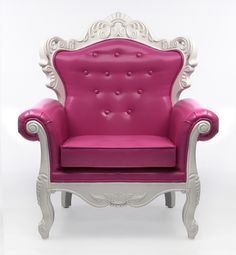 A pink baroque chair is a lovely accent in a pink dream closet | CFRentals - Contemporary Furniture Rentals::: Chairs