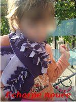 Le sewing-pot: Echarpe nouée /Knotted scarf