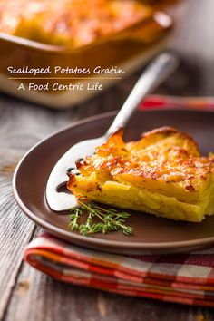 Whether you call them scallop potatoes, scalloped potatoes, potato au gratin or au gratin potatoes, they are just flat out fantastic. Healthy? Not really. But this recipe is at least healthier, with less fat and calories than the traditional French Potato Dauphinoise. Recipe too.