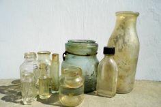 Vintage Bottles Antique Bottles Medicine by PaperWoodVintage, $21.00