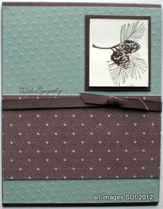 masculine card making ideas  I like the colours and pinecone stamp