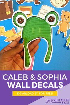 JW Caleb & Sophia Wall Decals | JW Printables