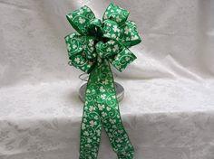 St. Patricks Day decorative Bow by creativelycarole on Etsy