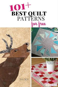 101+ Best Quilt Patterns for Free: Quilt Block Patterns, Quilt Patterns for Baby, and More | Check out our huge list of our best quilt patterns!