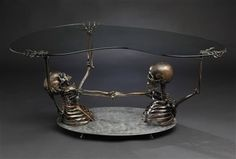This needs a matching fainting couch. Skull Furniture, Gothic Furniture, Cool Furniture, Furniture Dolly, Furniture Removal, Metal Furniture, Furniture Stores, Furniture Plans, Fainting Couch