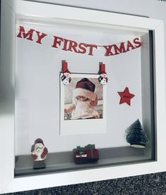Christmas Frame, My first Christmas, Baby Frame, Scrabble Kunst, Scrabble Art, My First Christmas, Christmas Baby, Xmas, Birth Gift, Baby Birth, First Birthday Gifts, First Birthdays