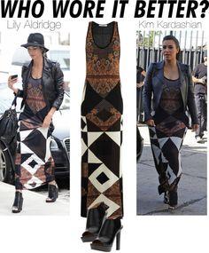 """Who Wore it Better? Lily Aldridge x Kim Kardashian"" by renatademarchi ❤ liked on Polyvore"