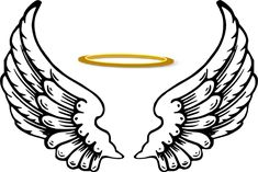 angel wings and halo clip art clipart backgrounds pinterest rh pinterest com angel wings clipart transparent angel wings clip heart with halo