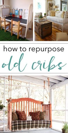 How to use old cribs (great repurposing ideas for home decor)