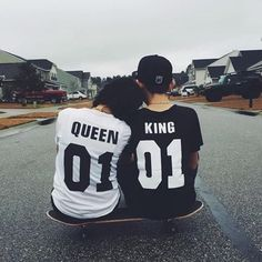King and Queen Street Trends Couples T-shirt