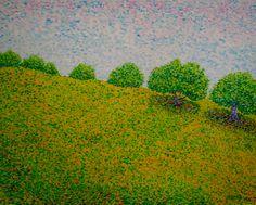 Paisaje con olivos  Óleo sobre lienzo   Año 2012  73x92cm   350€