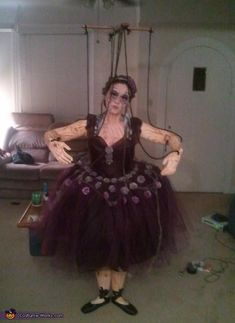 Wooden Marionette Puppet - Halloween Costume Contest via @costume_works