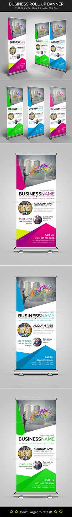 Business Roll Up Banner — Photoshop PSD #promotion #business templates • Available here → https://graphicriver.net/item/business-roll-up-banner/10088648?ref=pxcr