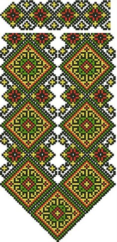 Cross stitching , Etamin and crafts: Traditional cross stitch Pattern Cross Stitch Borders, Cross Stitch Designs, Cross Stitching, Cross Stitch Patterns, Folk Embroidery, Beaded Embroidery, Embroidery Patterns, Loom Patterns, Beading Patterns
