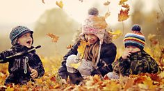 Happy kids playing in a pile of autumn leaves HD Wallpaper Autumn Activities, Creative Activities, Happy Fall, Happy Kids, Cute Kids, Cute Babies, Autumn Leaves Wallpaper, Happy People, Kids Playing