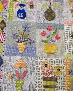 """159 Likes, 2 Comments - Mary Kelly (@patchnquilt) on Instagram: """"Potty Mc Dotty Bom program now available, why not start it in Irene's workshop Saturday 25 March. A…"""""""