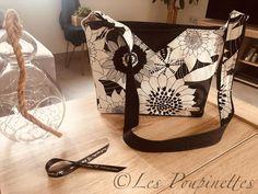 Sac Mambo noir et blanc cousu par Laeticia- Patron Sacôtin