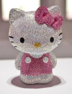 <3 A Hello Kitty Jewel doll studded with 19,636 crystals is displayed at Swarovski's Hello Kitty collection in Tokyo in 2011.