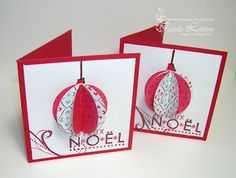 Scrapbook toujours - scrapbooking - Stampin Up! Diy Christmas Cards, Handmade Christmas, Holiday Cards, Christmas Projects, Christmas Crafts, Christmas Ornaments, Xmas Baubles, Paper Cards, Diy Cards