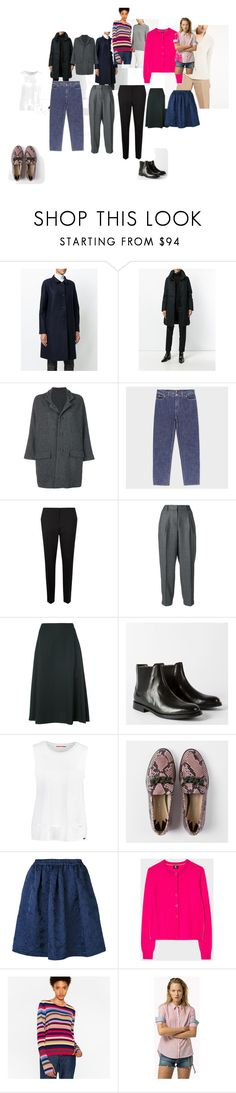 draft 2 by milasnotes on Polyvore featuring мода, PS Paul Smith, Woolrich, Harris Wharf London, DANIELA GREGIS, Incotex, Aspesi, Y's by Yohji Yamamoto, Topia and Paul Smith