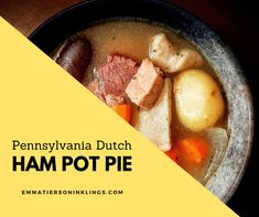 A family recipe that's been passed down through four generations, this down home soup is sure to soothe your soul. #hampotpie #potpie #soup #recipe #food #yum #delicious #easyrecipe #simplefood