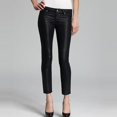 Rank & Style - Paige Denim Verdugo Coated Skinny Ankle Jeans #rankandstyle