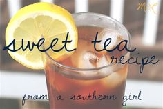 ML: southern sweet tea