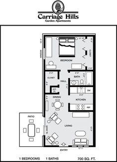 Haus Design Kleine Grundrisse Küchen Trendy Ideas - Home design ideas Small Floor Plans, Modern House Plans, Small House Plans, House Floor Plans, The Plan, How To Plan, 800 Sq Ft House, Apartment Floor Plans, Apartment Ideas