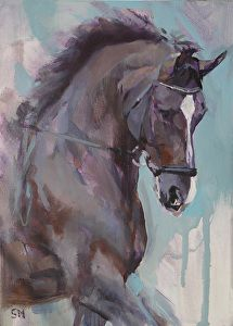 Oil pastels sketch Valegroi Impressions V by Sally Martin Oil ~ x Horse Oil Painting, Watercolor Horse, Knife Painting, Horse Drawings, Animal Drawings, Horse Illustration, Horse Artwork, Animal Paintings, Horse Paintings