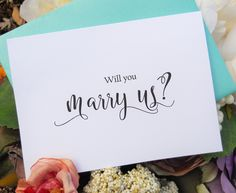 Ask that special person to officiate at your wedding with this elegant card.