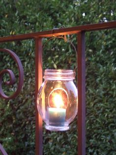 How to make hanging jar lanterns - this is SO simple. I am definitely making these