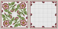 Briar Rose Biscornu • Chart for Front and Back