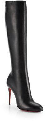 $1,295, Fifi Botta Leather Knee High Boots by Christian Louboutin. Sold by Saks Fifth Avenue.