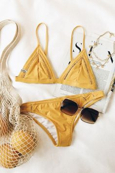 Yellow two set Bikini perfect for Summer of 2018