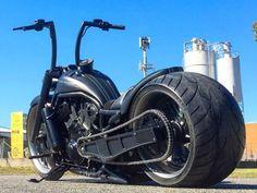 Harley-Davidson v-rod muscle Ape Hanger DGD Custom 1 Harley Night Rod, Harley V Rod, Vrod Custom, Custom Harleys, Harley Davidson V Rod, Night Rod Custom, Choppers For Sale, Custom Street Bikes, Custom Bikes