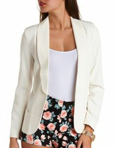 open structured boyfriend blazer