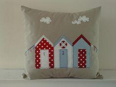 New beach hut applique cushion | Flickr - Photo Sharing!
