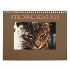 Cat Calendar - home gifts ideas decor special unique custom individual customized individualized