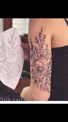 "Flower mandala tattoo Flower mandala tattoo Flower mandala tattoo ""pinner"": {""username"": ""mojcaverhovec"", ""first_name"": ""Mojca"", ""domain_url"": null, ""is_default_image"": false, ""image_medium_url"":. Body Art Tattoos, New Tattoos, Cool Tattoos, Tatoos, Tricep Tattoos, Arrow Tattoos, Skull Tattoos, Beautiful Flower Tattoos, Pretty Tattoos"