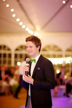 Ansel at his sisters wedding, loving the bow tie❤️