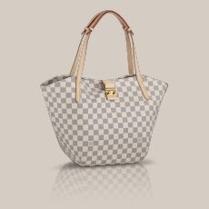 Salina PM Damier Azur Canvas Elegant and compact, the Salina PM is a bag that's charmingly feminine. Its finely worked long flat handles and supple Damier Azur canvas make it a delight to carry on the shoulder.