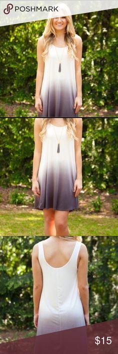 Grey dip dye ombré dress Cute and very comfy! Dresses