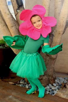 My Flower Girl | Felt Pink Flower Halloween Costume | PepperDesignBlog.com