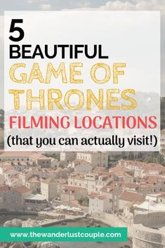 5 beautiful Game of Thrones filming locations that you may want to check out next time you are near one of these destinations including Iceland, Ireland, Malta, Croatia, and Spain. #gameofthrones