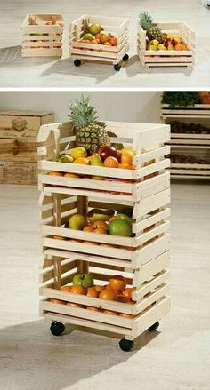 Yesterday findest of the die weltbesten DIY Party Deko Bastelideen! - MENDY - The Sunday decor idea: Vegetable storage on wheels – Deco # # -