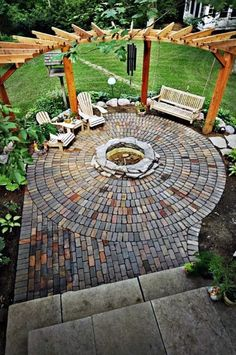 Design Patio, Backyard Patio Designs, Pergola Designs, Pergola Patio, Backyard Landscaping, Pergola Ideas, Patio Ideas, Pergola Kits, Firepit Ideas
