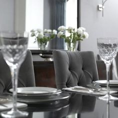 <3 tufted dining chairs