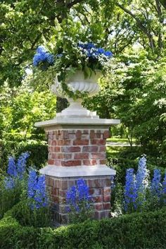 Large Urn in English Garden Setting, Barrington Hills