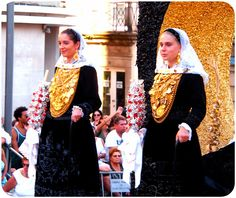 Yes,  this is real gold,  19 carat! The tradition of family's gold inherited matrilineally began to protect the wives of fishermen in the event of the breadwinner dying at sea. It is still carried on today with families committed to add to the inheritance of each generation.  Viana, Portugal