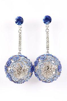 Ocean Blue Bauble Earrings